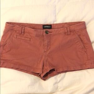 Express Salmon Colored Shorts